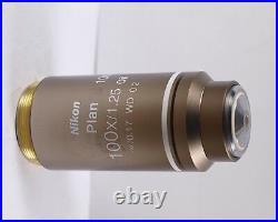 Nikon Plan 100x /1.25 WD 0.2 Eclipse Microscope Objective