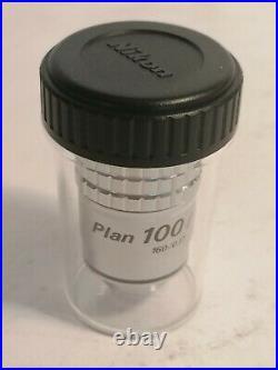 Nikon Plan 100x Microscope Objective, Planachromat Mikroskop Objektiv