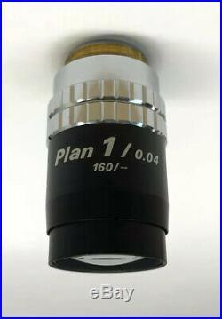 Nikon Plan 1x /0.04 160 TL RMS Low Power Microscope Objective