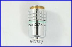 Nikon Plan 20x / 0.50 160 / 0.17 Phase Contrast Microscope from Japan #2761