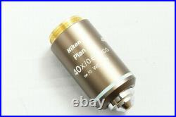 Nikon Plan 40X/0.65 NCG /0 WD 0.48 Eclipse Microscope Objective Lens #1846