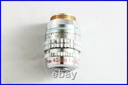 Nikon Plan 40x 0.55 Ph3 DL 160/0-2.5 ELWD Microscope Objective from Japan #1444