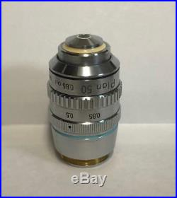 Nikon Plan 50X Microscope Objective Lens 160mm With Iris Optiphot Labophot ++