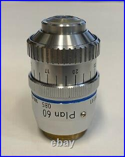 Nikon Plan 60X/0.85 DRY Microscope Objective With Correction Collar 160mm