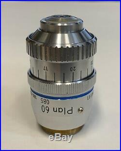 Nikon Plan 60X/0.85 DRY Microscope Objective With Correction Collar 160mm