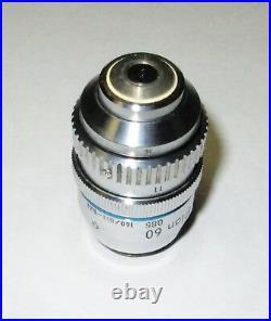 Nikon Plan 60 0.85 160/0.11-0.23 Microscope Objective With Correction Collar