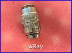 Nikon Plan APO 100x /1.40 Oil 160/0.17 Microscope Objective 100 Plan Apo