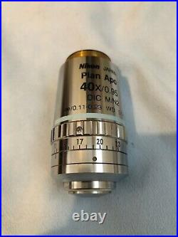 Nikon Plan APO 40x/0.95 DIC M/N2 Microscope Objective