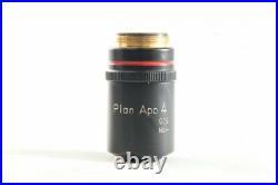 Nikon Plan APO 4x / 0.16 160mm TL Microscope Objective from Japan #1335
