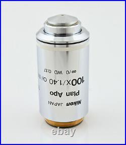 Nikon Plan Apo 100x/1.4 Oil NCG Eclipse series Microscope Objective