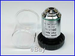 Nikon Plan Apo 20X/0.75 /0.17 WD 1.0 DIC M Microscope Objective Mint Condition