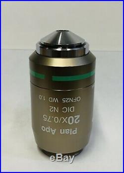 Nikon Plan Apo 20X DIC N2 Microscope Objective Lens OFN25 Planapo Eclipse