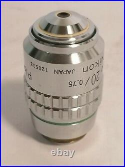 Nikon Plan Apo 20x Microscope Objective, Planapochromat Mikroskop Objektiv