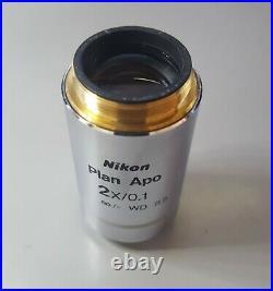 Nikon Plan Apo 2x/0.1 WD 8.5 Microscope Objective