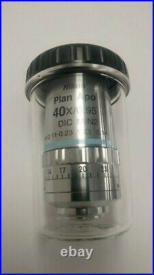 Nikon Plan Apo 40X/0.95 DIC M/N2 /0.11-0.23 Microscope Objective CFI Eclipse