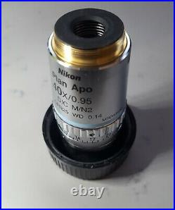Nikon Plan Apo 40x/0.95 DIC WD 0.14 Microscope Objective