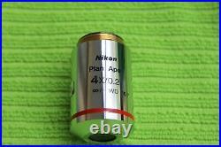 Nikon Plan Apo 4x 0.2 /- WD 15.7 CFI for Eclipse and I Microscope