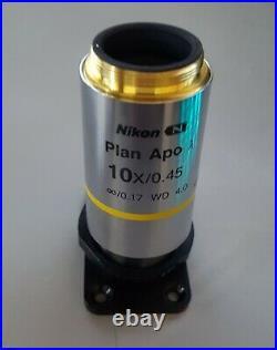 Nikon Plan Apo Lambda 10x/0.45 Microscope Objective
