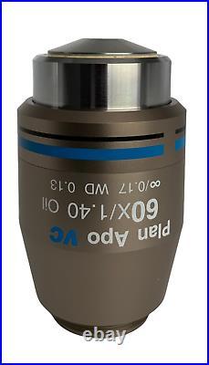 Nikon Plan Apo VC 60x 1.40 oil DIC microscope objective