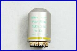 Nikon Plan Fluor 10X/0.30 Ph1 DL /0.12 WD 15.2 Microscope Objective #2164
