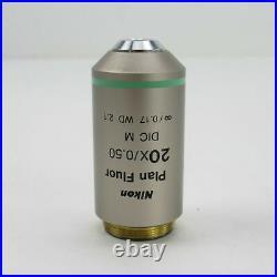 Nikon Plan Fluor 20x/0.50 DIC M Wd 2.1 Cfi Microscope Objective