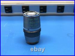 Nikon Plan Fluor ELWD 40x/0.60 Ph2 DM DIC M Microscope Objective