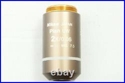 Nikon Plan UW 2X/0.06 /- WD Eclipse Microscope Objective Lens #1847