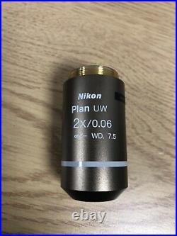 Nikon Plan UW 2x/0.06 Microscope Objective