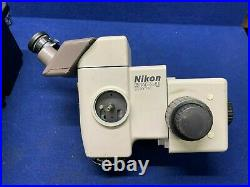 Nikon SMZ-U Stereoscopic Zoom Microscope W 2 Eye pieces ED Plan 1X