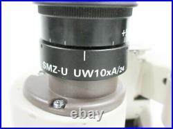 Nikon Smz-u Zoom 110 Microscope 2x Uw10xa/24 Ed Plan 0.75x 1.25x Head Ergo-tilt