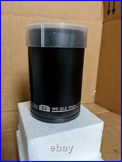Nikon Stereo Microscope Objective Lens P-ED Plan 2X MNH44200