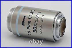 Nikon TU Plan 50x/0.60 ELWD WD11 Microscope Objective. Best Extreme Macro