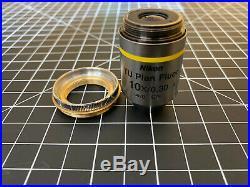Nikon TU Plan Fluor 10x/0.3 Microscope Objective WD 17.5